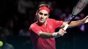 Федерер отново не показа милост (видео)