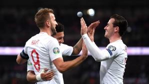 Англия 6:0 Черна гора, автогол увеличи резултата (гледайте тук)