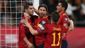 Испания разнищи Малта, двама дебютанти сред голмайсторите