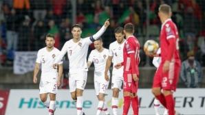 Португалия не допусна изненада срещу Люксембург и ще защитава европейската си титла (видео)