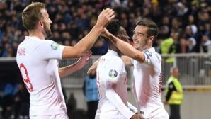 Англия приключи квалификациите с нова разгромна победа (видео)