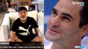 Марадона към Федерер: Машино, ти си най-великият