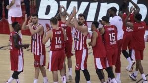 Везенков с осем точки за убедителна победа на Олимпиакос в Евролигата