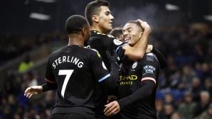 Бърнли 0:1 Манчестър Сити, страхотен гол на Жезус (гледайте тук)