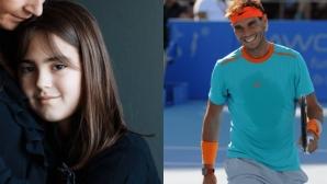 Рафа Надал подкрепи тежко болно момиче (видео)