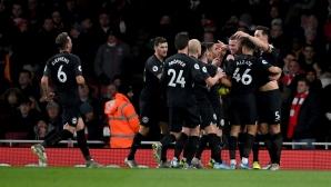 Арсенал - Брайтън 0:0, гледайте мача тук!