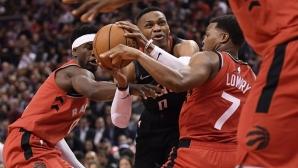 Шампионът Торонто с втора поредна домакинска загуба в НБА