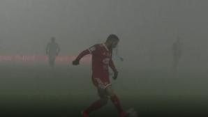 Мъгла прекъсна мач на Велев и Димитров в Румъния