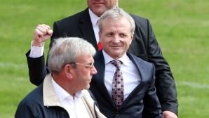 Ръководството и феновете на Литекс честитиха на Гриша Ганчев