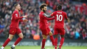 Ливърпул тръгва за Световното клубно с два гола на Салах и чиста мрежа срещу последния (видео)