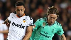Реал Мадрид остана под Барса след емоционален дуел във Валенсия (видео +галерия)