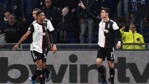 """Роналдо """"полетя"""" и донесе важна победа на Юве (видео)"""