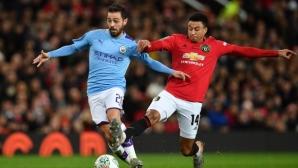 """Манчестър Сити удари лошо Юнайтед и направи голяма крачка към финала на """"Карабао Къп"""""""