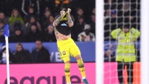 Саутхамптън си отмъсти за загубата с 0:9 след три отменени гола на Лестър (видео)