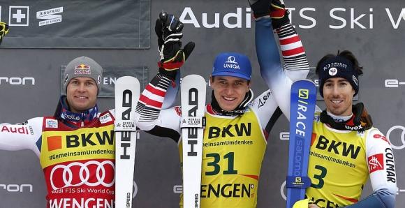 Матиас Майер спечели алпийската комбинация във Венген