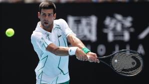 Джокович продължава в добро темпо защитата на титлата си на Australian open (видео)