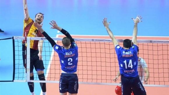 Краси Георгиев и Аркада без шансове срещу Галатасарай за Купата на CEV (снимки)