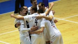 Марек удари Левски в София след 25:10 в първия гейм (видео + галерия)