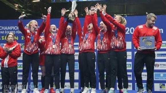 Съставите на Дания спечелиха титлите при жените и при мъжете на ЕП по бадминтон