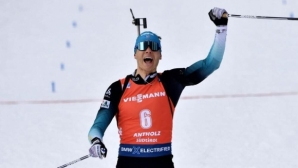 Краси Анев 13-и в преследването на СП по биатлон, титла за Жаклен