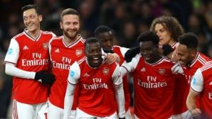 Арсенал срази Нюкасъл с четири гола за едно полувреме и доближи Ман Юнайтед (видео)