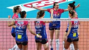 Елица Василева и Новара завършиха с победа в груповата фаза на ШЛ (видео + снимки)