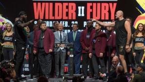 Фюри и Уайлдър по-тежки в сравнение с първия мач (видео)