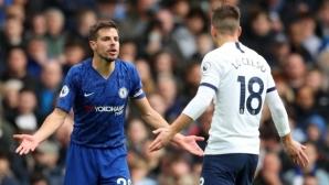 """ВАР призна за """"човешка грешка"""" по време на дербито между Челси и Тотнъм"""