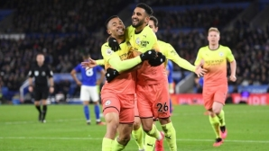 Ман Сити дръпна със седем точки пред Лестър преди важното гостуване на Реал (видео)