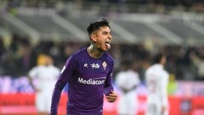 Фиорентина 0:0 Милан, отмениха гол на Ибра