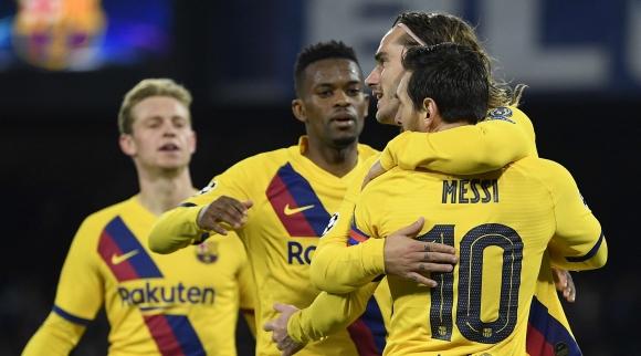 Наполи 1:1 Барселона, Гризман върна равенството