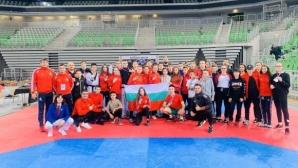 Българските национали в олимпийското таекуондо с 15 медала на силен турнир в Словения