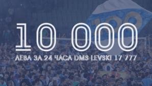 За 24 часа: Левски събра 10 000 лева от дарителски съобщения