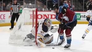 Мартин Каут с първи гол в НХЛ при победа на Колорадо срещу Бъфало