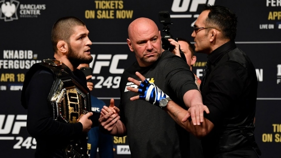UFC 249 на открито пред по-малко от десетима души?