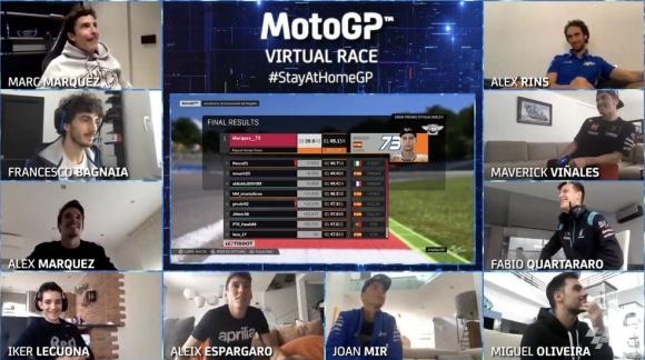 Алекс Маркес спечели виртуалното състезание в MotoGP