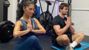Никол и гаджето й дават идеи за поддържане на перфектно тяло по време на карантина (видео)