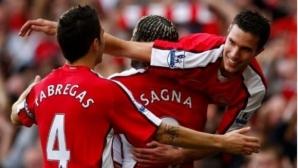 Трансферът на Ван Перси убедил Бакари Саня да напусне Арсенал
