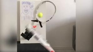 Нищо не може да спре феновете на тениса (видео)