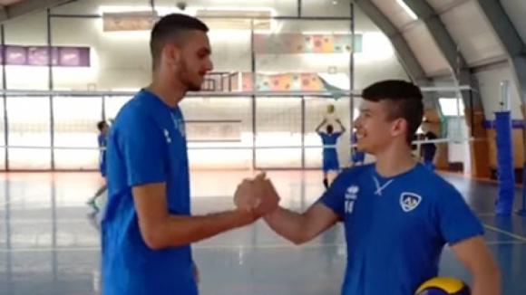 Младите волейболисти на Левски за отбора и новия сезон (видео)