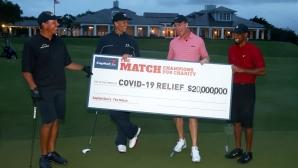 Голф мач събра 20 млн. долара в борбата с COVID-19
