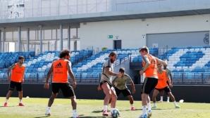 """Реал Мадрид тренира на """"новия"""" си стадион"""