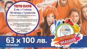 Фиестата с джакпоти над 7 260 000 лева от СПОРТ ТОТО