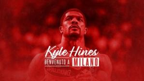 Кайл Хайнс е играч на Олимпия (Милано)