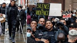 """Антъни Джошуа се включи в шествието """"Black Lives Matter"""" (снимки)"""