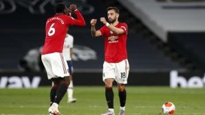 Погба и Бруно Фернандеш донесоха точка на Юнайтед срещу Тотнъм (видео)