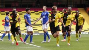 Лестър и Уотфорд се поразиха с изключителни голове в последните минути (видео)