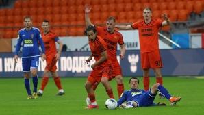 Румънец вкара два гола и получи червен картон при победа на Урал (видео)