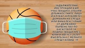 БФБаскетбол изготви инструкции за провеждане на първенствата при подрастващите