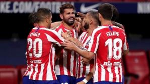 Изстрадана победа гарантира мястото на Атлетико Мадрид в ШЛ (видео)